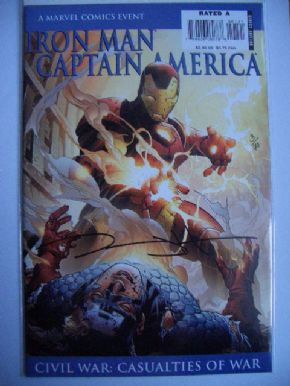 Iron Man Captain America DF Signed Jeremy Haun COA #3/70